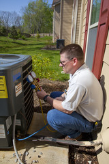 HVAC Tech Working