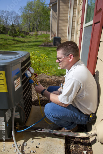 HVAC Tech Working