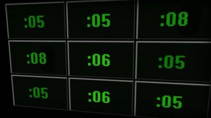 Compte à rebours mur d'écrans - HD