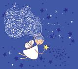 Fototapety little snowflake fairy