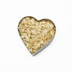 heart filled with oatmeal