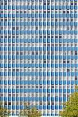 Hochhaus, Fensterreihen, Gebäude-Fassade, Deutschland