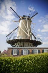 Dutch windmill blue sky holland netherlands