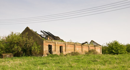 Springfield Hall derelict farm building