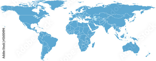 WORLD MAP BY COUNTRIES - 13610494