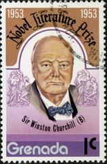 Granada.Winston Churchill. 1953. Timbre postal