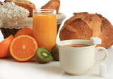 Fototapety jus de fruits et café