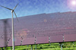 Solar Solaranlage Solarzellen und Windrad