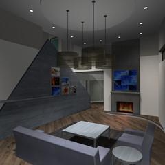 Modernes Haus-Wohnzimmer