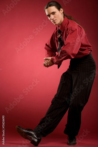 Businessman dance