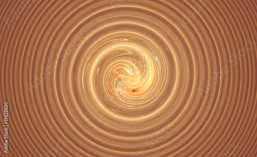 Staande foto Fractal waves Big swirl