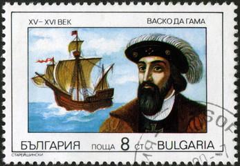 Bulgaria, Vasco di Gama, Timbre postal.
