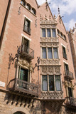 typical Art Nouveau building in Barcelona, Spain poster