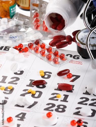 Planning of reception of tablets on basis of a calendar