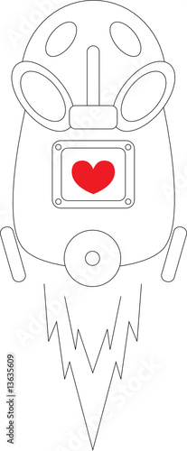 vacuum cleaner with heart