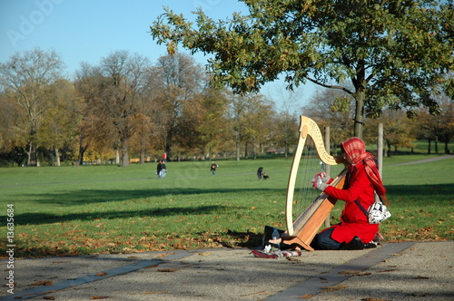 Harp Woman in Greenwich Park