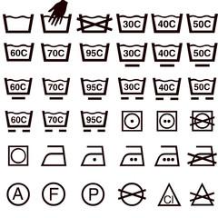 Iconos cuidado textil en Europa