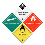Gases Warning Labels - 13637497