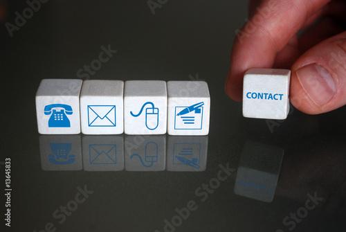 Contact symbols (wooden blocks)
