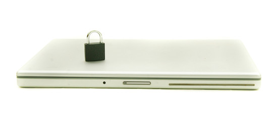 concept shot of secured laptop