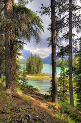 Spirit Island at Maligne Lake, Jasper National Park, Canada