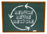 Reduce Reuse Recycle - Chalkboard poster