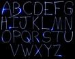 Neon Uppercase Alpabet