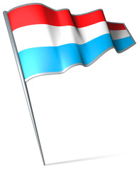 Flag pin - Luxembourg