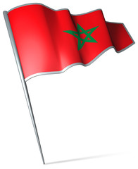 Flag pin - Morocco