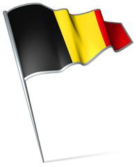 Flag pin - Belgium