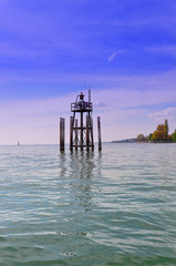 A storm warning device on Lake Constance