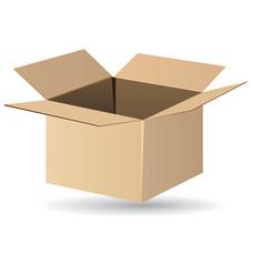 Open cardboard