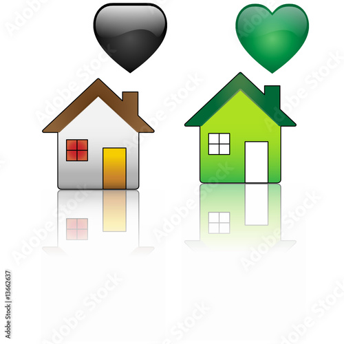 poster of Ecological House versus Regular House