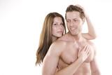 Fototapety Trainierter Mann mit schöner Frau