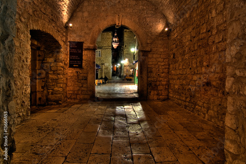 Historic entrance of korcula, croatia