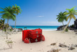 plage valise rouge 2