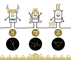 Zodiac signs - Earth