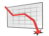 declining trend graph poster