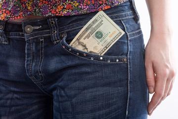 Dollar in Tasche
