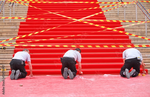 Papiers peints Opera, Theatre Famous red carpet in Cannes