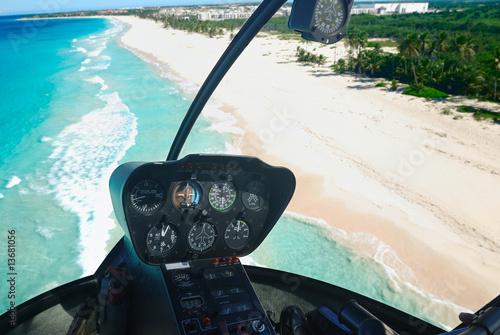 Caribbean beach aerial view - 13681056