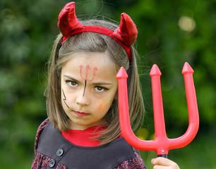 petit diable et sa fourche rouge