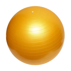 gymnastic yellow ball