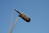 Shotgun Microphone with Wind Protector poster