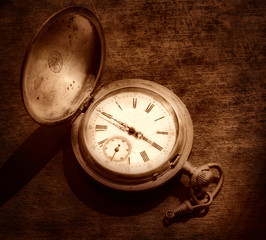Old silver watch