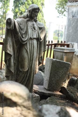Leinwanddruck Bild jesus sculpture