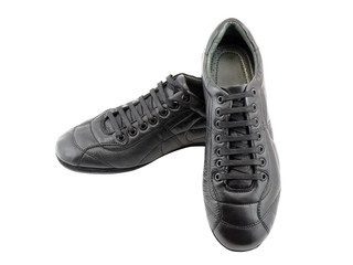 Men's leather sneakers. Isolated