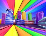 Ville pop art - 13707072