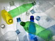 Backlit collection of colourful plastic bottles - 13707824