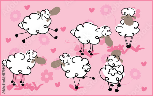 retro sheeps